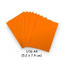 Бумага для модульного оригами оранжевая (неон), 5,2х7,4 см, 200 л., 80г/м2 /OP-128/ 102128 - TM VAOSTUDIO