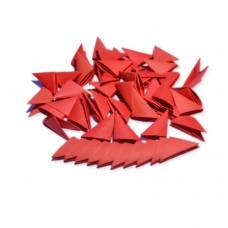 Треугольные модули для модульного оригами, красный, 1/32 А4 (3,7 х 5,2 см), 100шт., 80г/м2 /OP-311/ 102311 - TM VAOSTUDIO