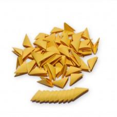 Треугольные модули для модульного оригами, золотой, 1/32 А4 (3,7 х 5,2 см), 100шт., 80г/м2 /OP-322/ 102322 - TM VAOSTUDIO