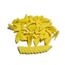 Треугольные модули для модульного оригами, желтый (интенсивный), 1/32 А4 (3,7 х 5,2 см), 100шт., 80г/м2 /OP-323/ 102323 - TM VAOSTUDIO