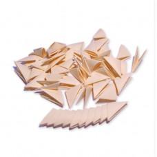 Треугольные модули для модульного оригами, ванильный, 1/32 А4 (3,7 х 5,2 см), 100шт., 80г/м2 /OP-325/ 102325 - TM VAOSTUDIO