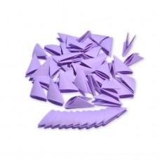 Треугольные модули для модульного оригами, сиреневый,1/32 А4 (3,7 х 5,2 см), 100шт., 80г/м2 /OP-342/ 102342 - TM VAOSTUDIO