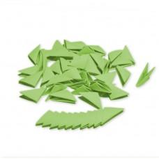 Треугольные модули для модульного оригами, зеленый (пастельный), 1/32 А4 (3,7 х 5,2 см), 100шт., 80г/м2 /OP-353/ 102353 - TM VAOSTUDIO