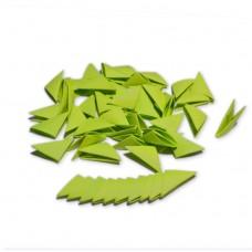 Треугольные модули для модульного оригами, зеленый (неон), 1/32 А4 (3,7 х 5,2 см), 100шт., 80г/м2 /OP-359/ 102359 - TM VAOSTUDIO