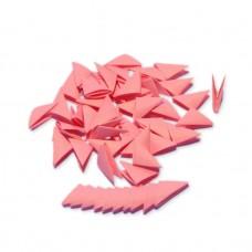 Треугольные модули для модульного оригами, розовый (неон), 1/32 А4 (3,7 х 5,2 см), 100шт., 80г/м2 /OP-369/ 102369 - TM VAOSTUDIO