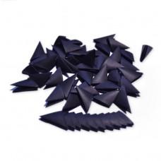 Треугольные модули для модульного оригами, черный, 1/32 А4 (3,7 х 5,2 см), 100шт., 80г/м2 /OP-381/ 102381 - TM VAOSTUDIO