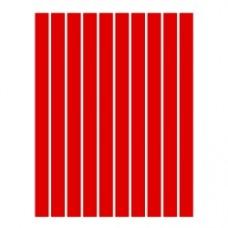 Набор полосок бумаги для квиллинга, 1 цвет (красный), 1,5х295 мм, 160 г/м2, 100 шт. /QP-160-11-01/ 105011 - TM VAOSTUDIO