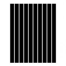 Набор полосок бумаги для квиллинга, 1 цвет (черный), 1,5х295 мм, 160 г/м2, 100 шт. /QP-160-81-01/ 105081 - TM VAOSTUDIO