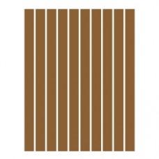 Набор полосок бумаги для квиллинга, 1 цвет (коричневый), 1,5х295 мм, 160 г/м2, 100 шт. /QP-160-82-01/ 105082 - TM VAOSTUDIO