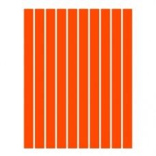 Набор полосок бумаги для квиллинга, 1 цвет (оранжевый), 3х295 мм, 160 г/м2, 100 шт. /QP-160-21-03/ 106021 - TM VAOSTUDIO