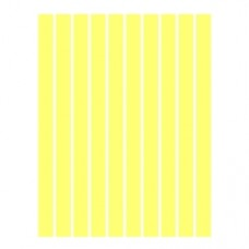 Набор полосок бумаги для квиллинга, 1 цвет (желтый пастель), 3х295 мм, 160 г/м2, 100 шт. /QP-160-24-03/ 106024 - TM VAOSTUDIO