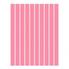 Набор полосок бумаги для квиллинга, 1 цвет (розовый неон), 3х295 мм, 160 г/м2, 100 шт. /QP-160-69-03/ 106069 - TM VAOSTUDIO