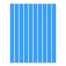 Набор полосок бумаги для квиллинга, 1 цвет (синий интенсив), 5х295 мм, 160 г/м2, 100 шт. /QP-160-32-05/ 107032 - TM VAOSTUDIO
