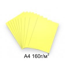 Бумага А4 160г/м2 желтая (пастельный),1 лист /113241