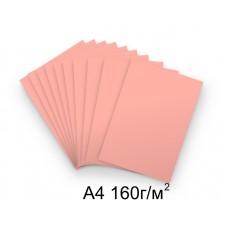 Бумага А4 160г/м2 розовая, 1 лист /113621