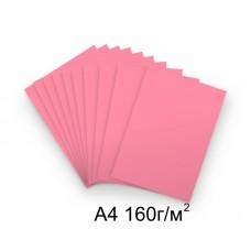 Бумага А4 160г/м2 розовая (неон), 1 лист /113691