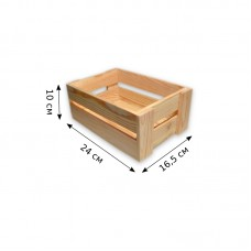 Деревянный ящик для хранения. Размеры - 24 х 16,5 х 10 см.