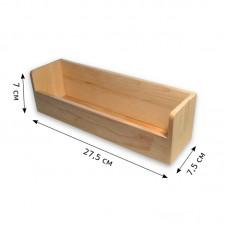 Деревянный ящик для специй. Размеры - 27,5 х 7 х 7,5 см.