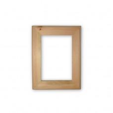Деревянная рамка А6. Внутренний размер - 105x148 мм. Ширина профиля - 30 мм.