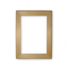 Деревянная рамка А5. Внутренний размер - 148x210 мм. Ширина профиля - 30 мм.
