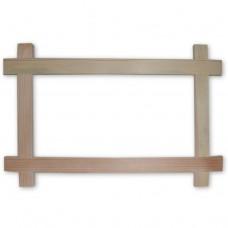 Деревянная рамка. Внутренний размер - 170x340 мм. Ширина профиля - 30 мм.