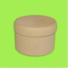 Шкатулка прямая с крышкой, диаметр 8-9 см / 353001