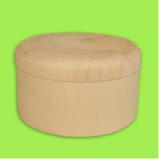 Шкатулка прямая с крышкой, диаметр 12 см / 353004