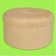 Шкатулка прямая с крышкой, диаметр 13 см / 353005