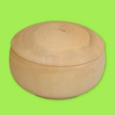 Шкатулка круглая с крышкой, диаметр 15-16 см / 354004