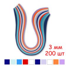 Набор полосок бумаги для квиллинга, 8 цветов, 3х295 мм, 80 г/м2, 200 шт. /QP-80-203-03/ 106203 - TM VAOSTUDIO