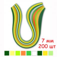 Набор полосок бумаги для квиллинга, 8 цветов, 7х295 мм, 80 г/м2, 200 шт. /QP-80-202-07/ 108202 - TM VAOSTUDIO