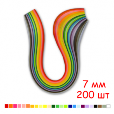 Набор полосок бумаги для квиллинга, 25 цветов, 7х295 мм, 80 г/м2, 200 шт. /QP-80-214-07/ 108214 - TM VAOSTUDIO