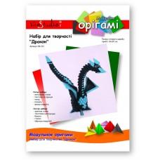 """Дракон (черно-синий), набор для творчества, серия """"Модульное оригами"""" /OK-221/ 101221 - TM VAOSTUDIO"""