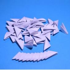 Треугольные модули для модульного оригами, белый, 1/32 А4 (3,7 х 5,2 см), 100 шт., 80 г/м2 /OP-389/ 102389 - TM VAOSTUDIO