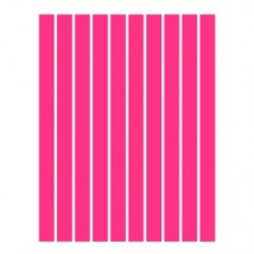 Набор полосок бумаги для квиллинга, 1 цвет (красный неон), 1,5х295 мм, 160 г/м2, 100 шт. /QP-160-19-01/ 105019 - TM VAOSTUDIO