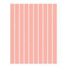 Набор полосок бумаги для квиллинга, 1 цвет (розовый), 1,5х295 мм, 160 г/м2, 100 шт. /QP-160-62-01/ 105062 - TM VAOSTUDIO