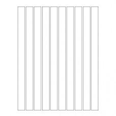 Набор полосок бумаги для квиллинга, 1 цвет (белый), 1,5х295 мм, 160 г/м2, 100 шт. /QP-160-89-01/ 105089 - TM VAOSTUDIO
