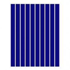 Набор полосок бумаги для квиллинга, 1 цвет (синий темный), 3х295 мм, 160 г/м2, 100 шт. /QP-160-31-03/ 106031 - TM VAOSTUDIO