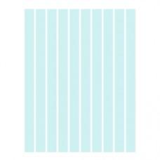 Набор полосок бумаги для квиллинга, 1 цвет (голубой), 3х295 мм, 160 г/м2, 100 шт. /QP-160-33-03/ 106033 - TM VAOSTUDIO