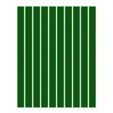 Набор полосок бумаги для квиллинга, 1 цвет (зеленый темный) 3х295 мм, 160 г/м2, 100 шт. /QP-160-51-03/ 106051 - TM VAOSTUDIO