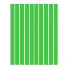 Набор полосок бумаги для квиллинга, 1 цвет (зеленый интенсив), 3х295 мм, 160 г/м2, 100 шт. /QP-160-52-03/ 106052 - TM VAOSTUDIO