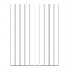 Набор полосок бумаги для квиллинга, 1 цвет (белый), 5х295 мм, 160 г/м2, 100 шт. /QP-160-89-05/ 107089 - TM VAOSTUDIO