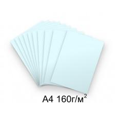 Бумага А4 160г/м2 голубая, 1 лист /113331