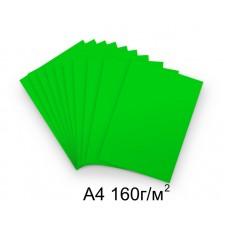 Бумага А4 160г/м2 зеленая (интенсивный), 1 лист /113521