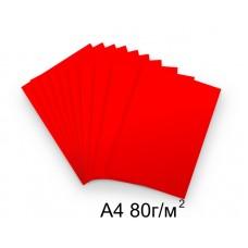 Бумага А4 80г/м2 красная,1 лист /114111