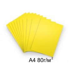 Бумага А4 80г/м2 желтая (интенсивный),1 лист /114231