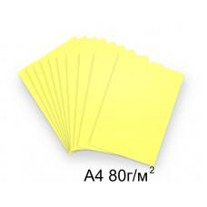 Бумага А4 80г/м2 желтая (пастельный),1 лист /114241