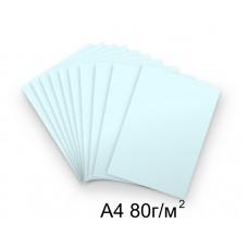 Бумага А4 80г/м2 голубая,1 лист /114331