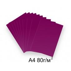 Бумага А4 80г/м2 красно-фиолетовая (ежевичная),1 лист /114411