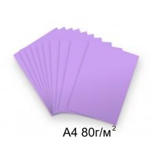 Бумага А4 80г/м2 сиреневая,1 лист /114421